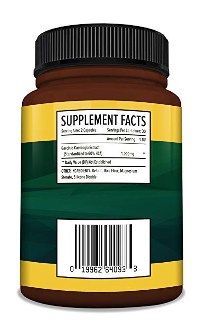 Cambogia Extract Formula - 60 High Potency Capsules